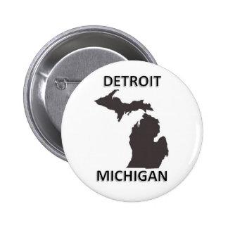 Detroit Michigan 2 Inch Round Button