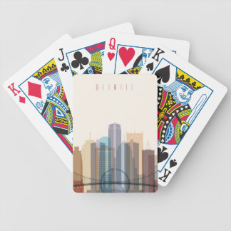 Detroit, Michigan | City Skyline Bicycle Playing Cards