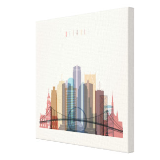 Detroit, Michigan | City Skyline Canvas Print