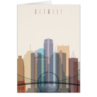 Detroit, Michigan | City Skyline Card