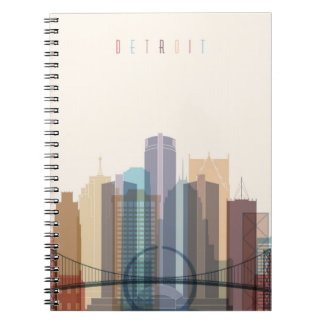 Detroit, Michigan | City Skyline Notebooks