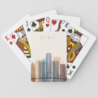 Detroit, Michigan | City Skyline Playing Cards