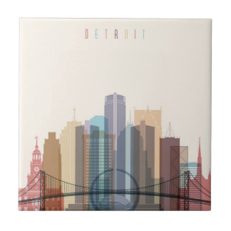 Detroit, Michigan | City Skyline Tile