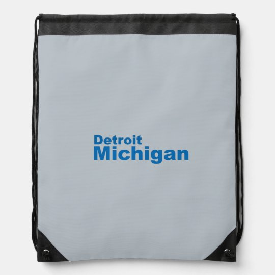 Detroit, Michigan Drawstring Backpack