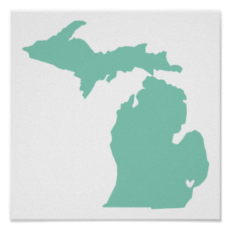Detroit, Michigan Love Poster