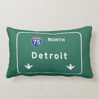 Detroit Michigan mi Interstate Highway Freeway : Lumbar Pillow