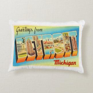 Detroit Michigan MI Old Vintage Travel Souvenir Decorative Pillow