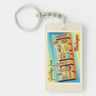 Detroit Michigan MI Old Vintage Travel Souvenir Keychain