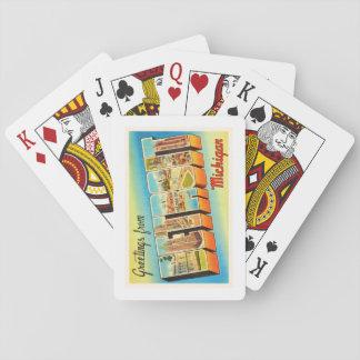 Detroit Michigan MI Old Vintage Travel Souvenir Playing Cards