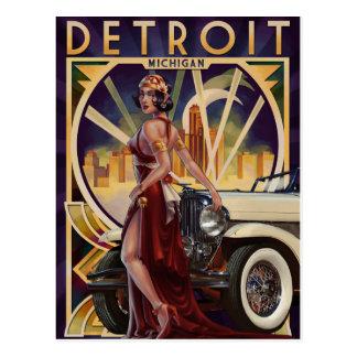 Detroit, Michigan | Motor City Postcard
