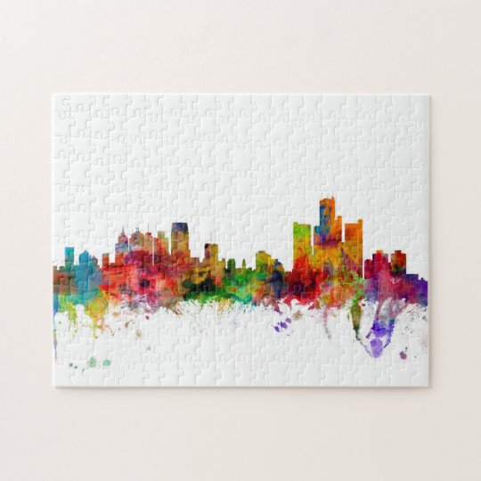 Detroit Michigan Skyline Jigsaw Puzzle
