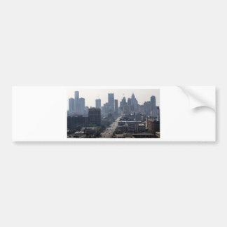 Detroit Michingan Skyline Bumper Sticker