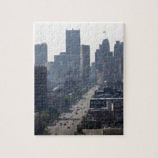 Detroit Michingan Skyline Jigsaw Puzzle