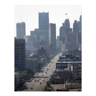 Detroit Michingan Skyline Letterhead