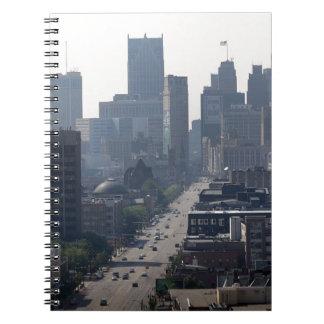 Detroit Michingan Skyline Notebooks