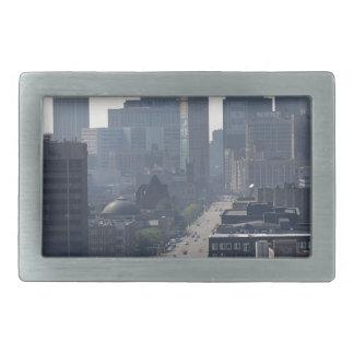 Detroit Michingan Skyline Rectangular Belt Buckles