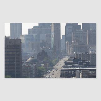 Detroit Michingan Skyline Sticker
