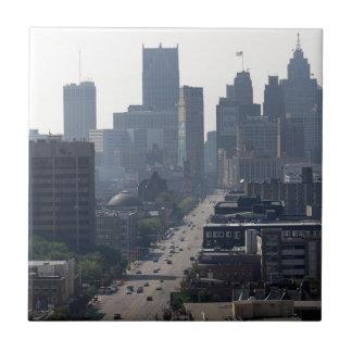 Detroit Michingan Skyline Tile