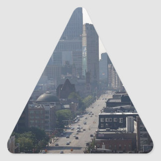 Detroit Michingan Skyline Triangle Sticker