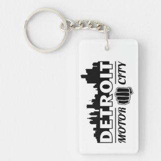 Detroit Motor City Skyline Key Chain