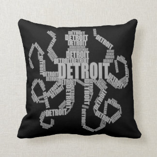Detroit Octopus Art Throw Pillow