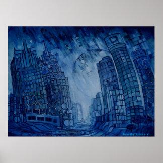 Detroit on the Rocks II - Canvas Print