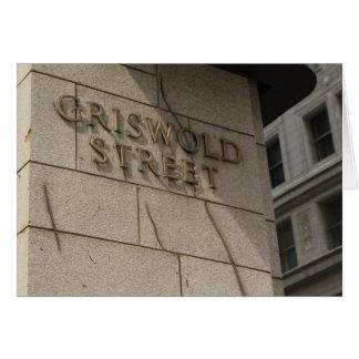 Detroit postcard - Griswold St