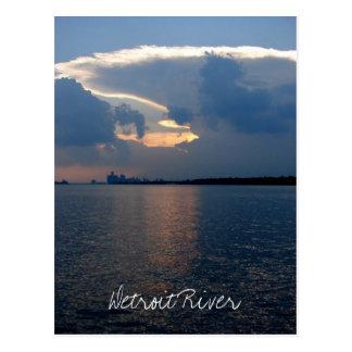 Detroit River Postcard