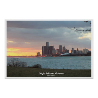Detroit Riverscape Poster