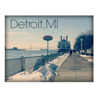 Detroit Riverwalk Postcard