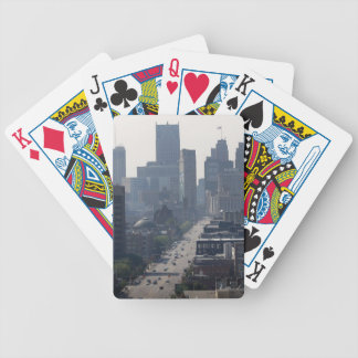 Detroit Skyline Bicycle Playing Cards