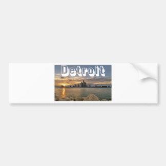Detroit Skyline Bumper Sticker