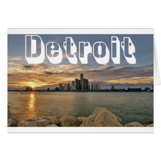 Detroit Skyline Card
