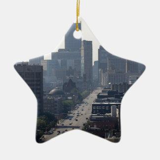 Detroit Skyline Ceramic Ornament