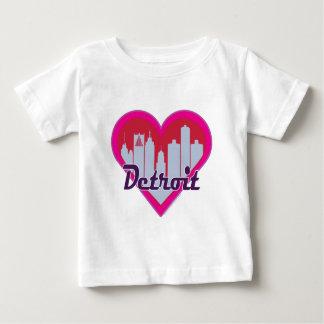 Detroit Skyline Heart Baby T-Shirt