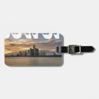 Detroit Skyline Luggage Tag