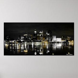 Detroit Skyline Poster