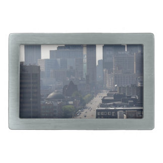 Detroit Skyline Rectangular Belt Buckle