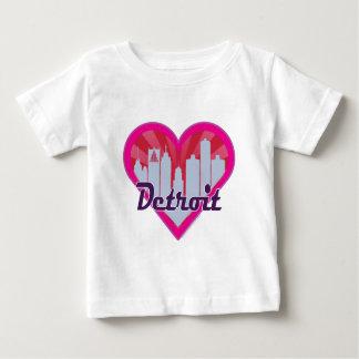 Detroit Skyline Sunburst Heart Baby T-Shirt
