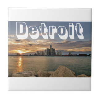 Detroit Skyline Tile