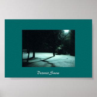 Detroit Snow Poster