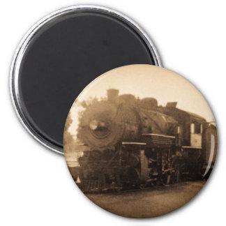 Detroit Terminal Railroad Engine at Adrian MI 2 Inch Round Magnet