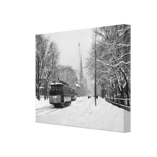 Detroit United Railway on Woodward (MI) Canvas Print