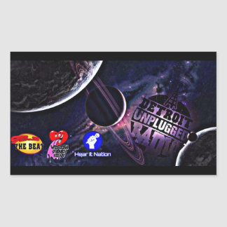 Detroit Unplugged Stickers outer space