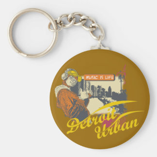 Detroit Urban T-shirts and Gifts Key Chain