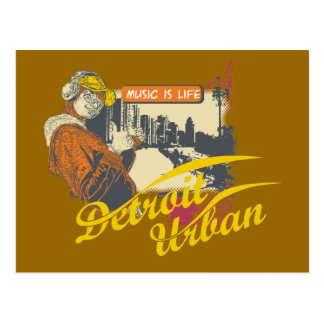 Detroit Urban T-shirts and Gifts Postcard