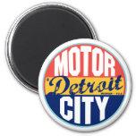 Detroit Vintage Label 2 Inch Round Magnet