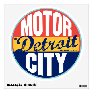 Detroit Vintage Label Wall Sticker