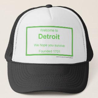 Detroit welcome trucker hat