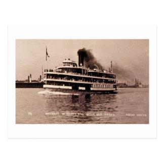 Detroit Windsor and Belle Isle Ferry - Louis Pesha Postcard